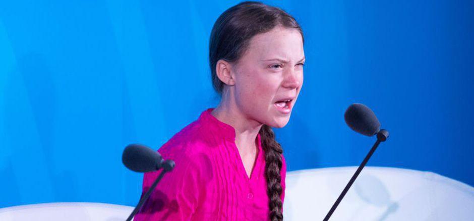 Mit Tränen in den Augen: Greta Thunberg bei ihrem eindringlichen Appell auf dem UNO-Klimagipfel in New York.