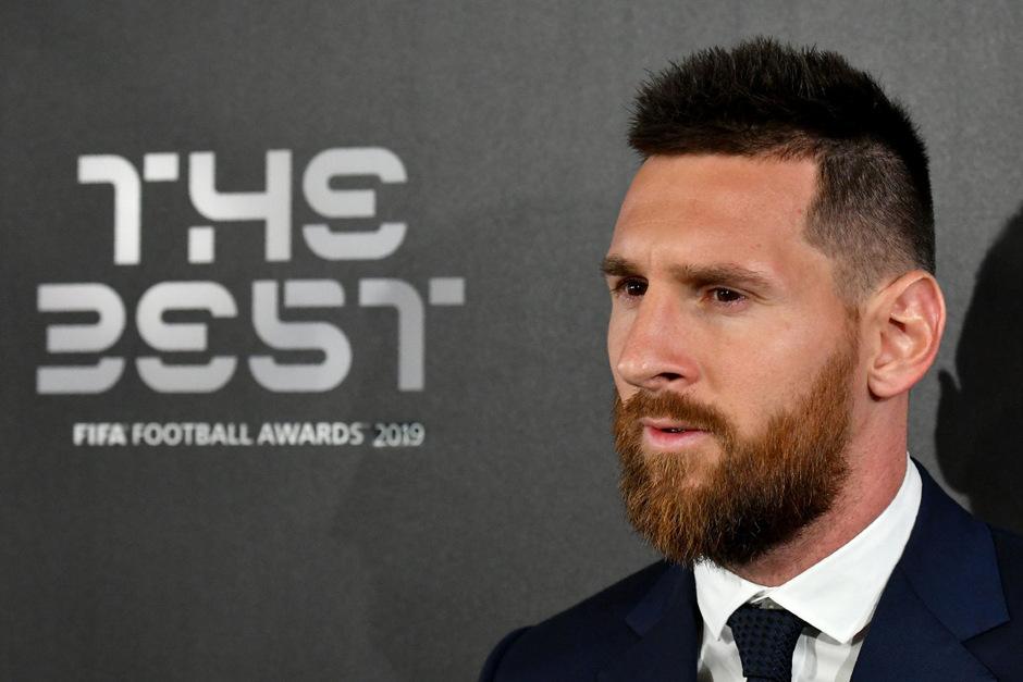 Lionel Messi bei der Gala in Mailand.