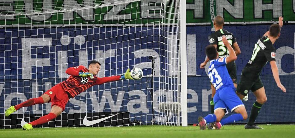 Pavao Pervan hielt den Wolfsburger Punkt gegen Hoffenheim mit einigen Glanzparaden fest.
