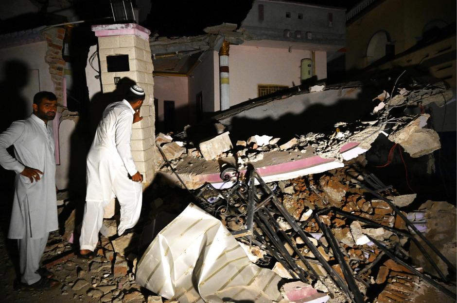 Viele Gebäude in der betroffenen Region stürzten durch das Erdbeben ein.