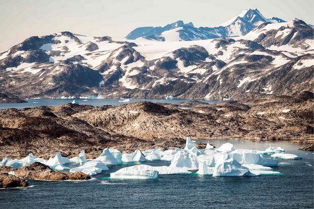 Eisberg vor der Küste Grönlands.