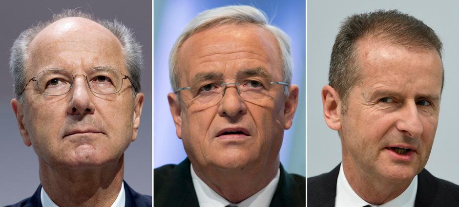Hans Dieter Pötsch, Martin Winterkorn und Herbert Diess sind mit schweren Vorwürfen konfrontiert.