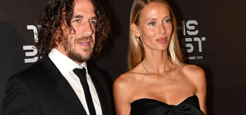 Carles Puyol mit Ehefrau Vanesa Lorenzo bei der FIFA-Gala am Montagabend in Mailand.
