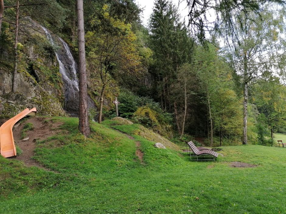 Im Bereich des Wasserfalls soll eine große Station das Müllerhandwerk erlebbar machen.