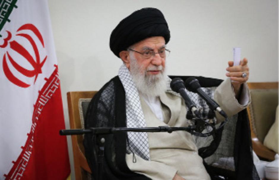 Irans geistliches Oberhaupt Ayatollah Ali Khamenei.