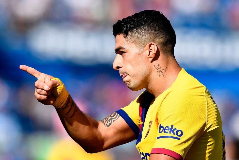 Luis Suarez traf zum 1:0 für den FC Barcelona.