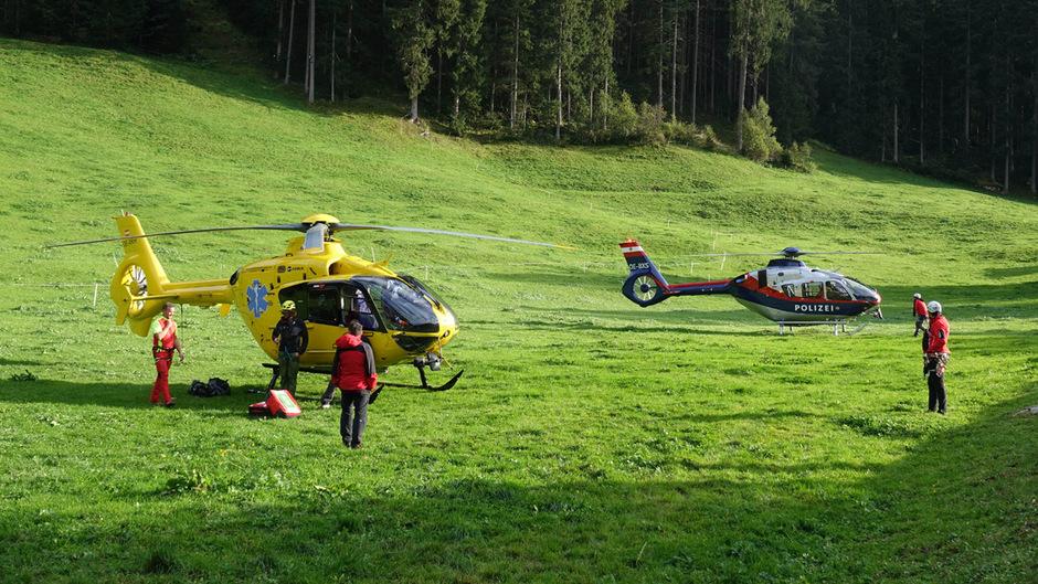 Die Besatzungen von Rettungs- und Polizeihubschrauber konnten nur noch die Leiche der jungen Frau bergen.