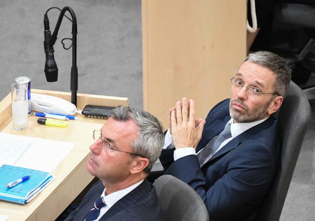 Die FPÖ-Spitzen Norbert Hofer und Herbert Kickl.