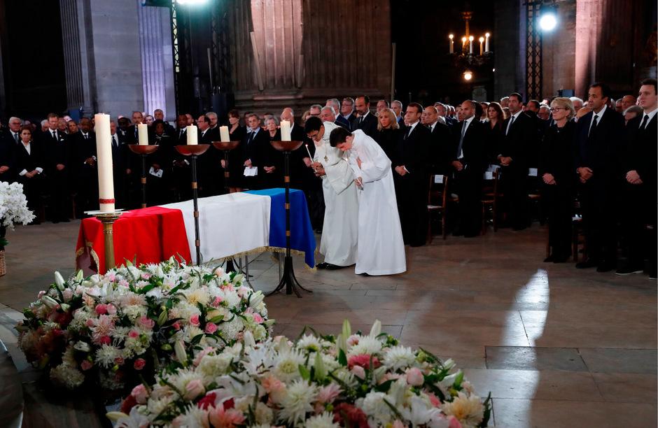 Zu der großen Trauerfeier kamen zahlreiche internationale Gäste.