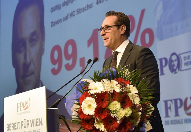 Bild aus besseren Zeiten: Im Jahr 2017 wurde Strache noch mit überwältigender Mehrheit im Amt bestätigt.