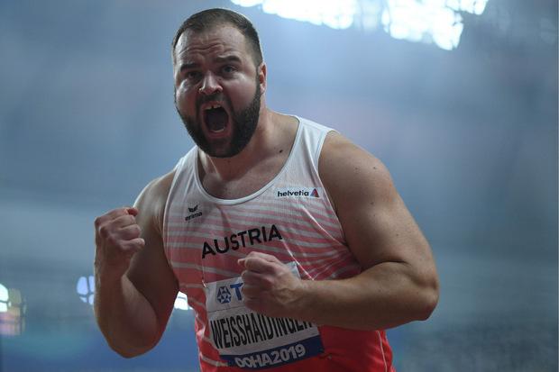 Lukas Weißhaidinger ließ in Doha seine Muskeln spielen.