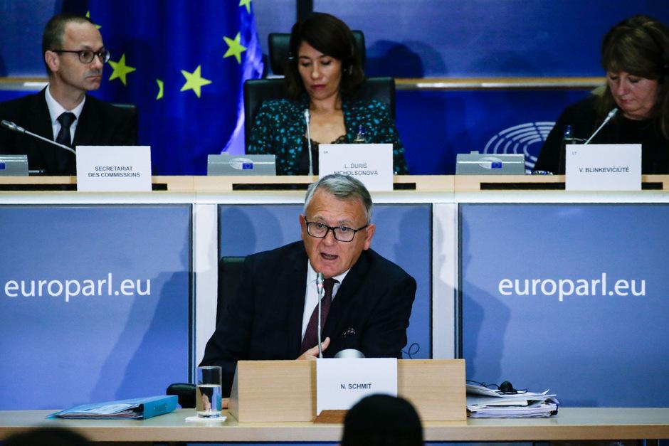 Nicolas Schmit bei seiner Anhörung im EU-Parlament.
