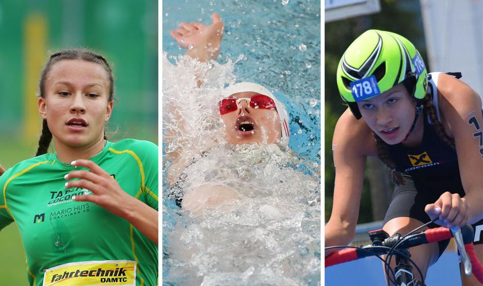 Laufen, Schwimmen und Triathlon: Die 13-jährige Tabea Huys holte heuer Goldmedaillen in allen drei Sportarten.