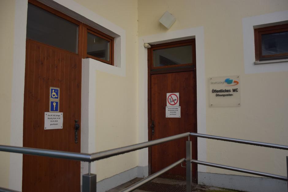 Die öffentlichen WC-Anlagen bei der ehemaligen Musikschule sind seit 1. Jänner 2018 permanent geschlossen.