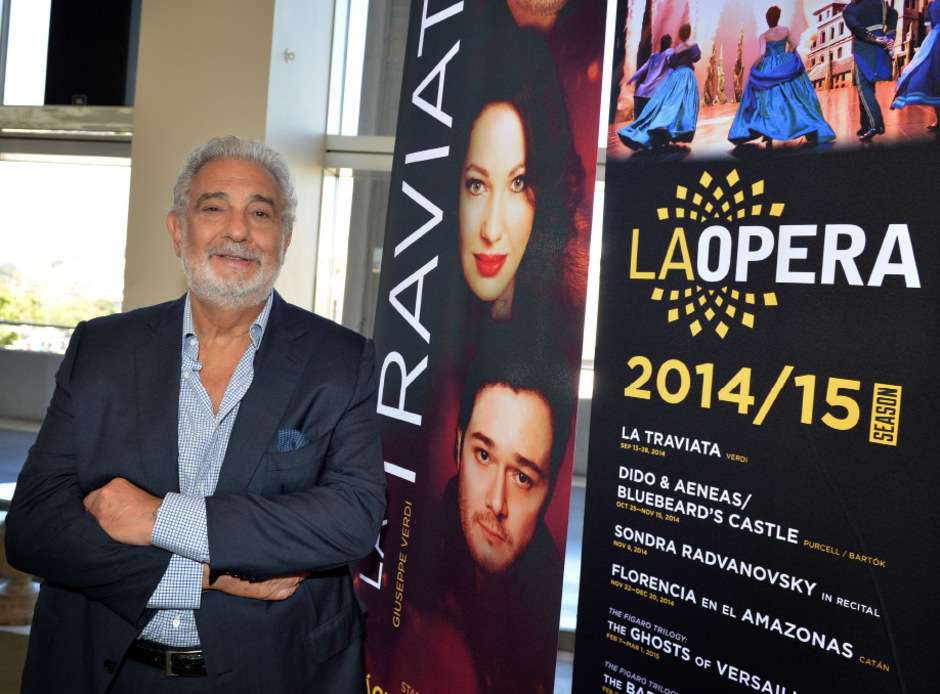 Plácido Domingo in der Oper von Los Angeles.