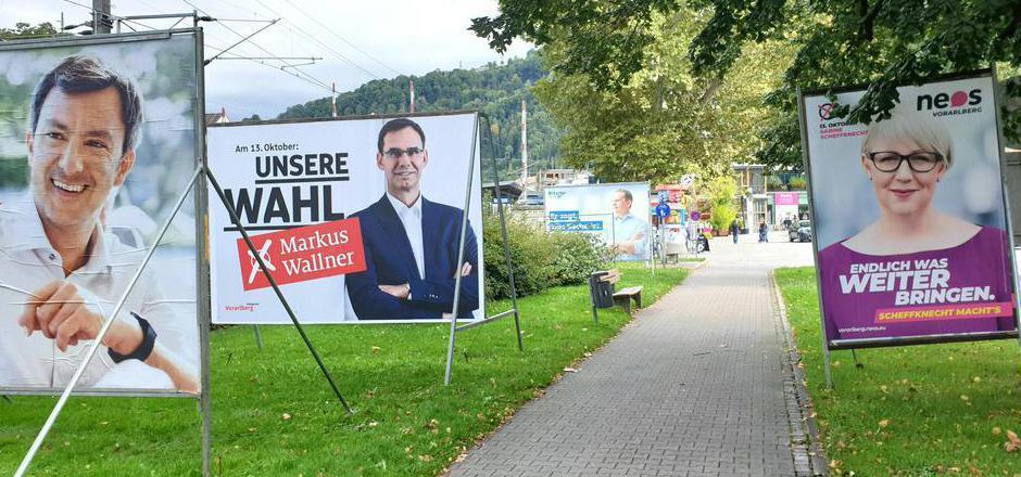 Am Tag nach der Nationalratswahl war in Vorarlberg bereits umplakatiert: Nächsten Sonntag entscheiden rund 270.000 Wahlberechtigte über die neue Zusammensetzung des Landtags.