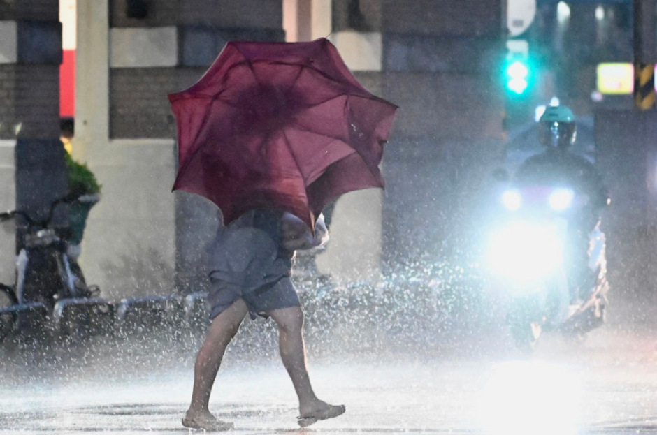 """Sturm """"Mitag"""" ist mit voller Wucht auf Südkorea getroffen."""