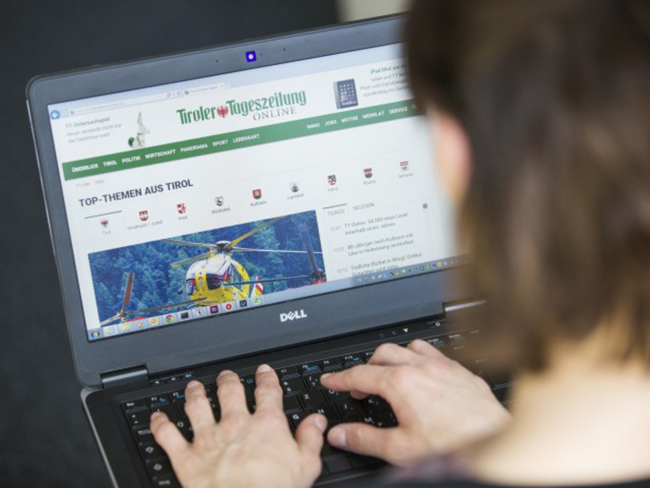 Laut der aktuellen Online-Analyse ÖWA Plus klickten zuletzt rund 1,1 Millionen Nutzer pro Monat auf tt.com
