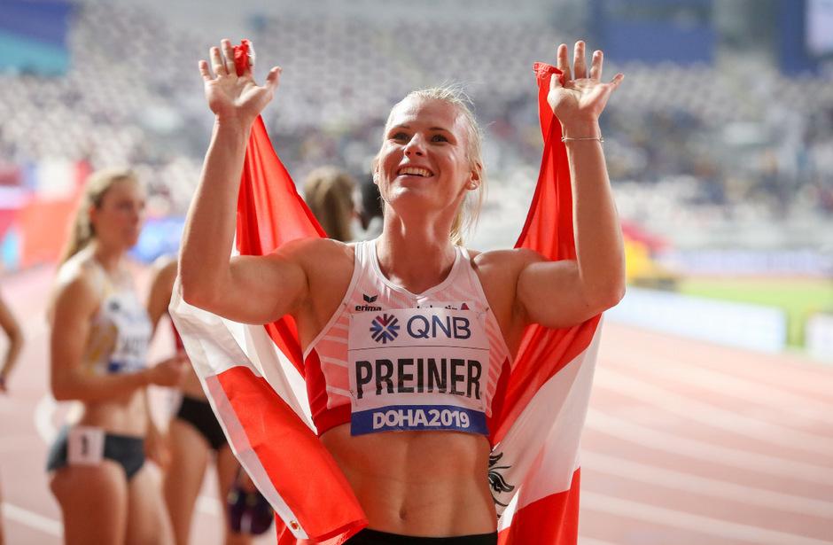 Verena Preiner jubelt über das sensationelle WM-Bronze.