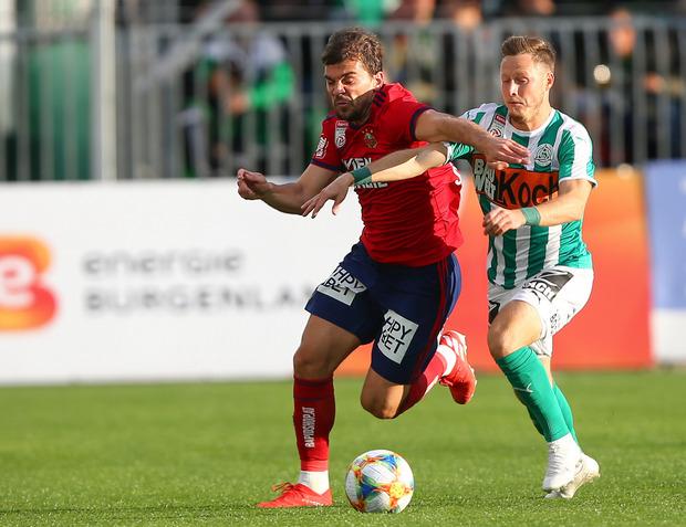 Rapid setzte sich gegen Mattersburg erst in der Schlussphase durch.