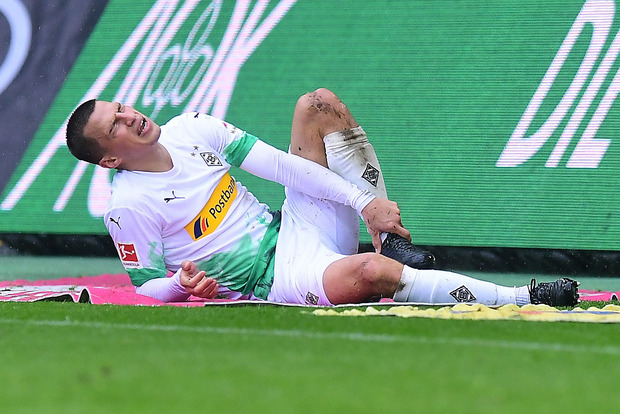 Stefan Lainer zog sich eine Sprunggelenksverletzung zu.