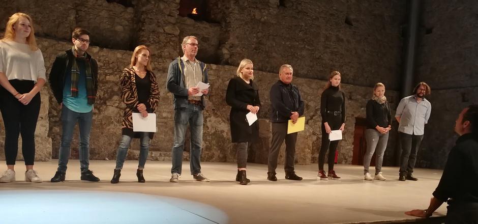 Insgesamt 15 Bewerber kämpften in der Ehrenberg-Arena um die fünf noch zu vergebenden Rollen.