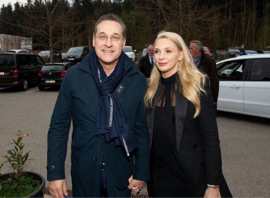 Heinz-Christian Strache mit seiner Frau Philippa Strache.