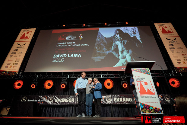 ... wie die Eltern von David Lama (rechts mit US-Alpinist Conrad Anker).