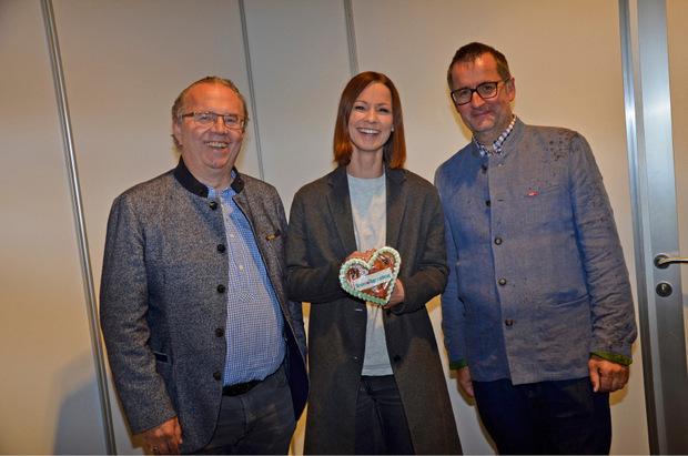 Der österreichische Pop- und Rockstar Christina Stürmer mit Moser-Holding-CEO Hermann Petz und ORF-Landesdirektor Robert Unterweger, die den tollen musikalischen Act gestern präsentierten.