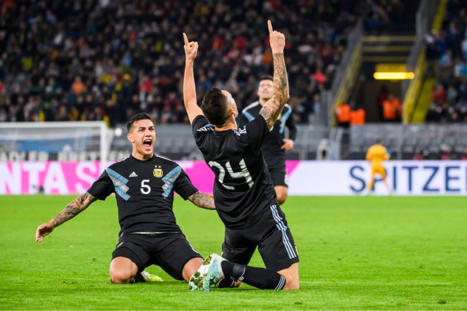 Fünf Minuten vor Spielende kassierte Deutschland gegen Argentinien den Ausgleichstreffer durch Jokoer Lucas Ocampos.