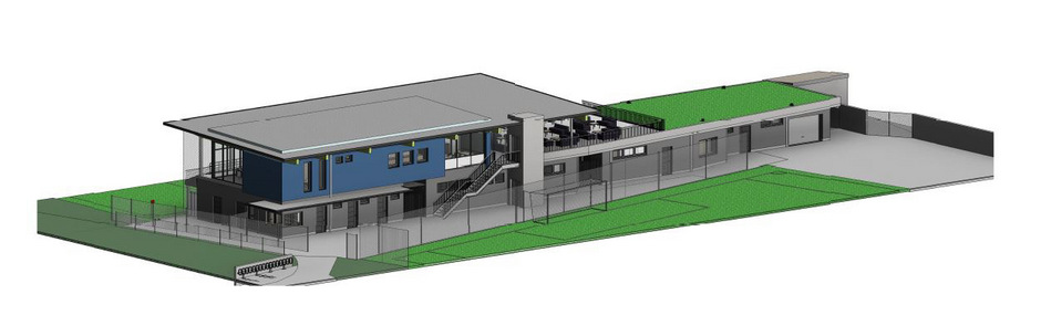 Rund 2,5 Mio. Euro kostet das neue Sportgebäude.