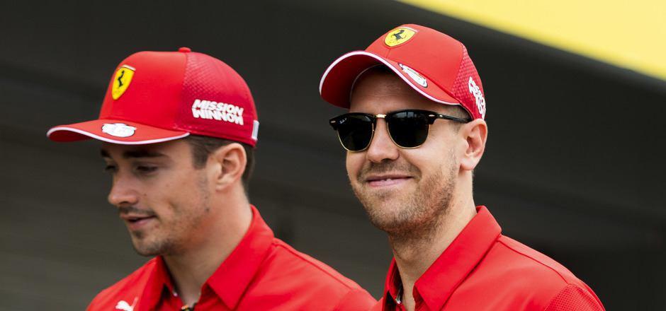 In Suzuka könnte es wieder zwischen den Ferrari-Teamkollegen Leclerc (l.) und Vettel krachen.