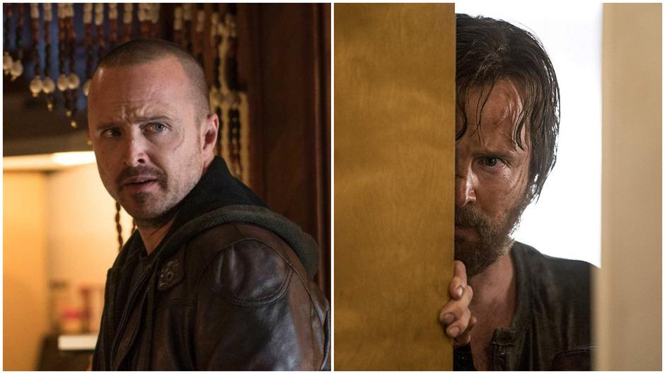 """Die """"zwei Gesichter"""" des Jesse Pinkman – im Trailer ist er auf der Flucht in ein neues Leben."""