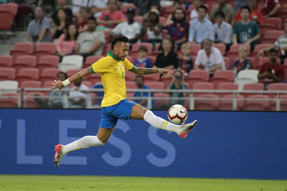 Neymar blieb in seinem Jubiläumsspiel ohne Torerfolg.
