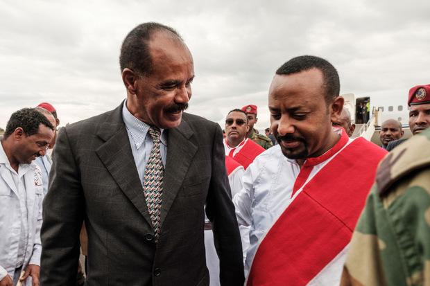Abiy Ahmed (rechts) mit Eritreas Präsident Isaias Afwerki.