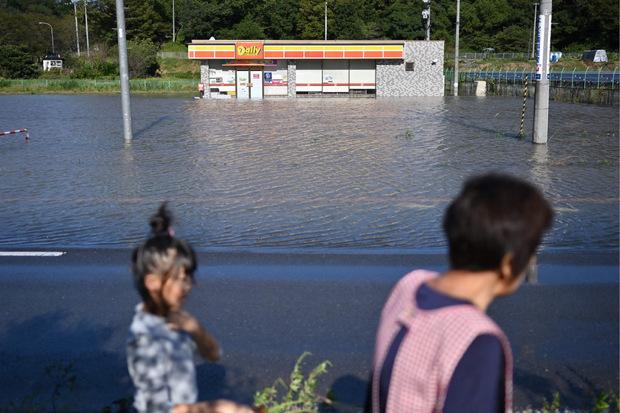 """""""Hagibis"""" sorgte vielerorts für Überschwemmungen."""
