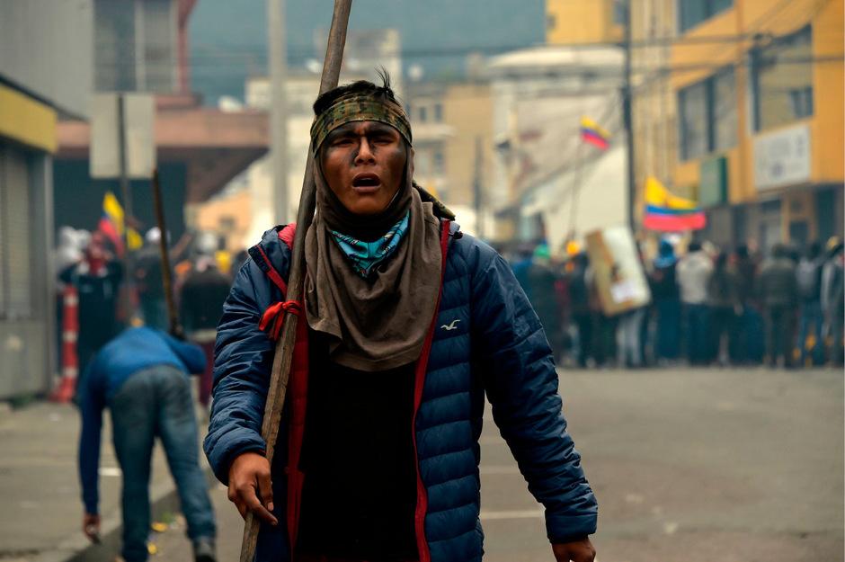 Indigene Gruppierungen haben federführend die Beteiligung an den Demonstrationen übernommen.