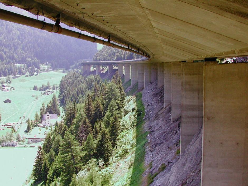 Laut Asfinag am Ende ihrer technischen Lebensdauer: die Luegbrücke der Brennerautobahn.