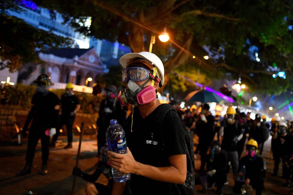 In Hongkong kam es auch an diesem Wochenende zu Protesten.