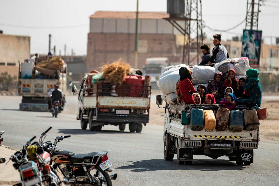 Zahlreiche Zivilisten flüchteten bereits aus Tall Abyad.