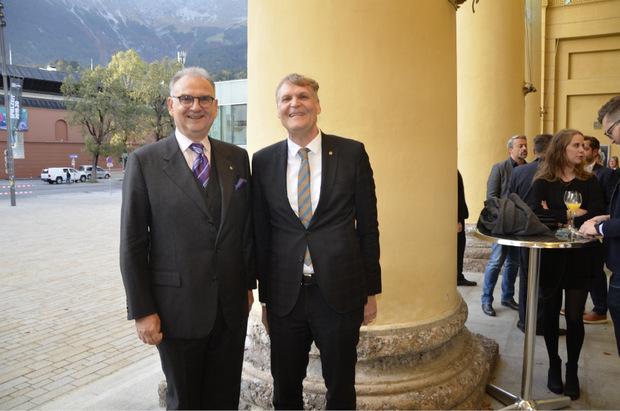 Med-Uni-Rektor Wolfgang Fleischhacker und Vizerektor Wolfgang Meixner (r.).