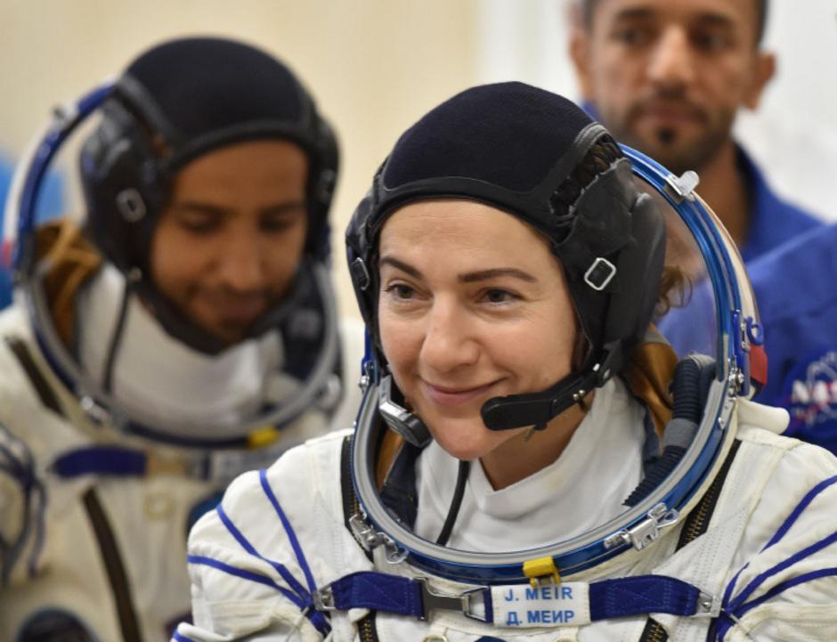 Die Astronautin Jessica Meir während eines Tests.