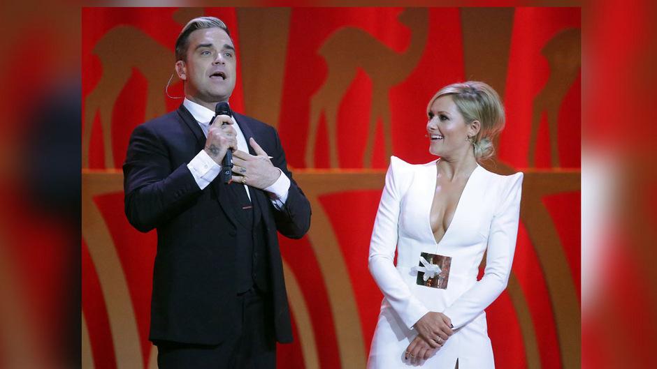 Unter anderem bei der Bambi-Verleihung 2013 sind sie sich schon mal begegnet: Robbie Williams und Helene Fischer kennen sich aber bereits seit zehn Jahren.