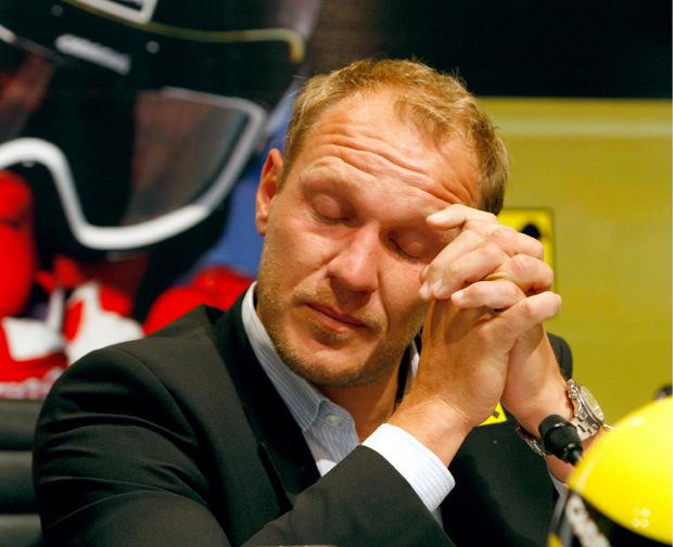 Hermann Maier während der sehr emotionalen Rücktrittsrede am 13. Oktober 2019.