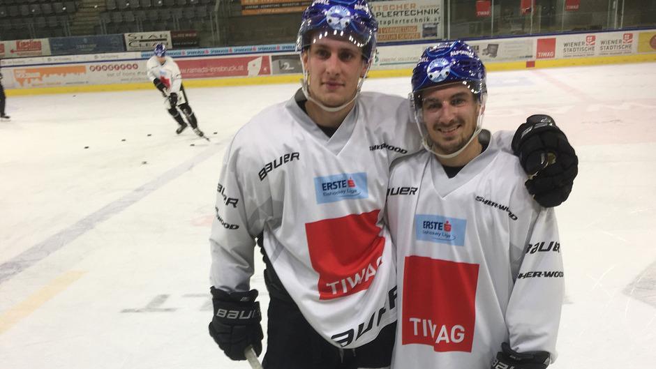 Die neue Villacher Connection bei den Innsbrucker Haien – Christof Kromp (l.) kennt Daniel Wachter schon seit Kindheitstagen.