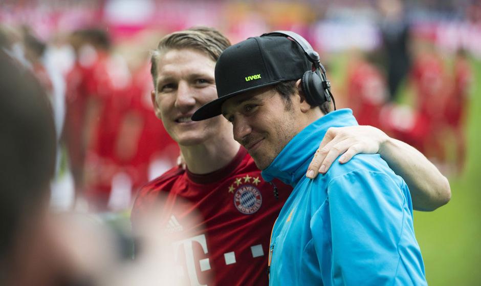 Bastian Schweinsteiger und Felix Neureuther steht noch ein Slalomrennen bevor.