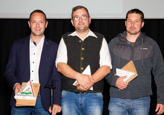 Ausgezeichnet: Para-Snowboarder Reinhold Schett, Sehbehinderten-Skifahrer Josef Lahner mit Guide Franz Erharter (von links).