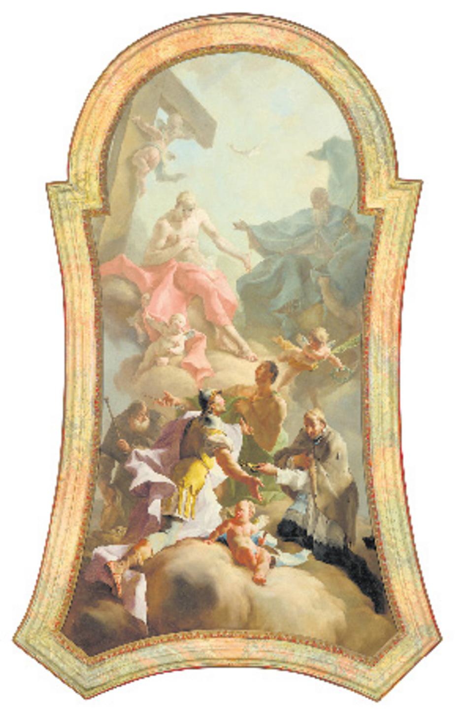 """Mildorfers """"Heilige Dreifaltigkeit"""" (Altarbild um 1755)."""