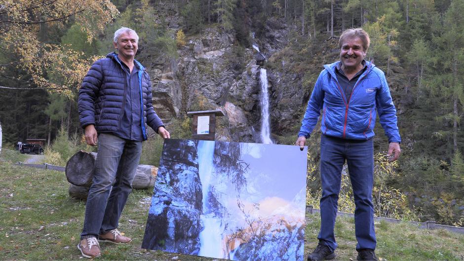 Johann Landerer und Franz Schmid hatten die Idee für den spektakulären Wanderweg in der Verpeilschlucht.