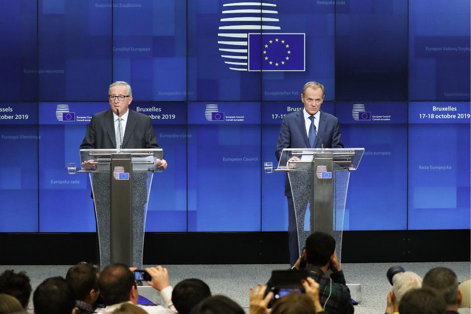 Kommissionspräsident Jean-Claude Juncker und EU-Ratspräsident Donald Tusk übten scharfe Kritik am Unvermögen der EU-Staaten, sich auf Beitrittsgespräche mit Albanien und Nordmazedonien zu einigen.